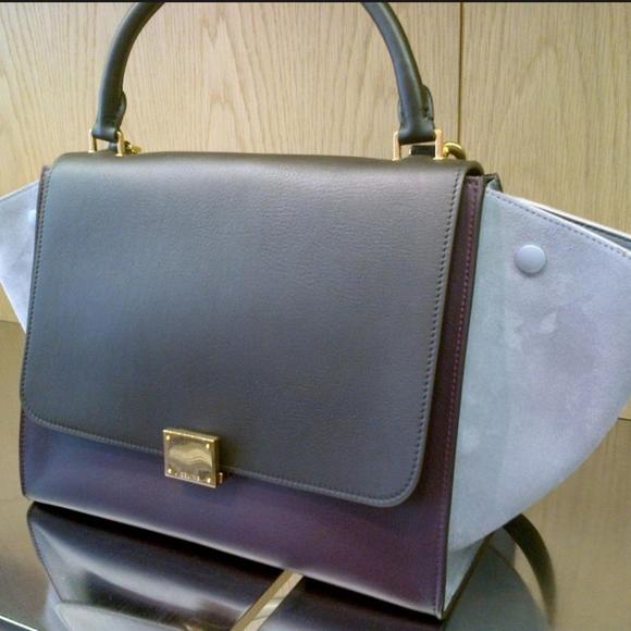 Celine Handbags - CELINE Tricolor Trapeze